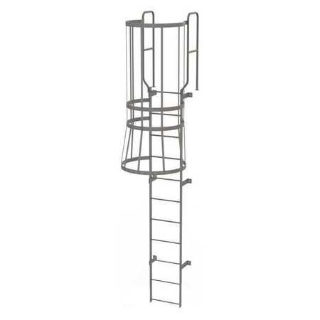 10Ft Steel Fixed Ladder with Safety Cage – WLFC1211