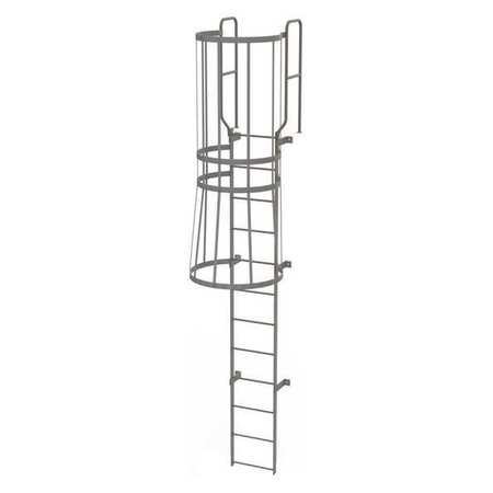 11Ft Steel Fixed Ladder with Safety Cage – WLFC1212