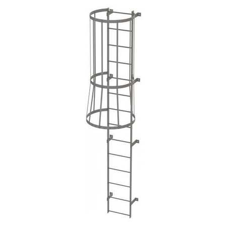 13Ft Steel fixed Ladder with Safety Cage – WLFC1114