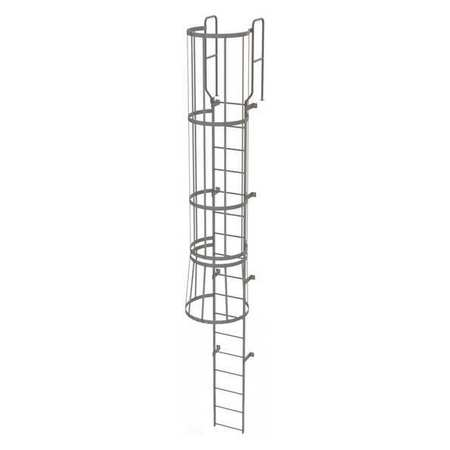 16Ft Steel Fixed Ladder with Safety Cage – WLFC1217