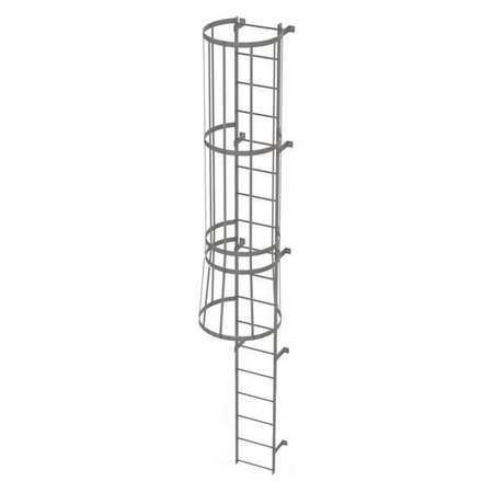 17Ft Steel Fixed Ladder with Safety Cage – WLFC1118