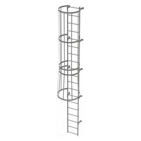 18Ft Steel Fixed Ladder with Safety Cage – WLFC1119