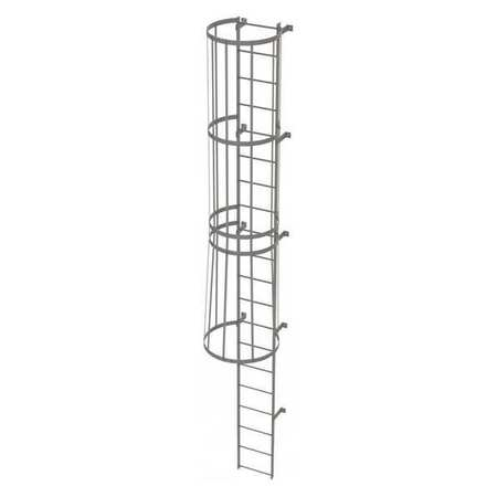 19Ft Steel Fixed Ladder with Safety Cage – WLFC1120