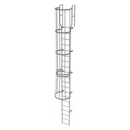 19Ft Steel Fixed Ladder with Safety Cage – WLFC1220