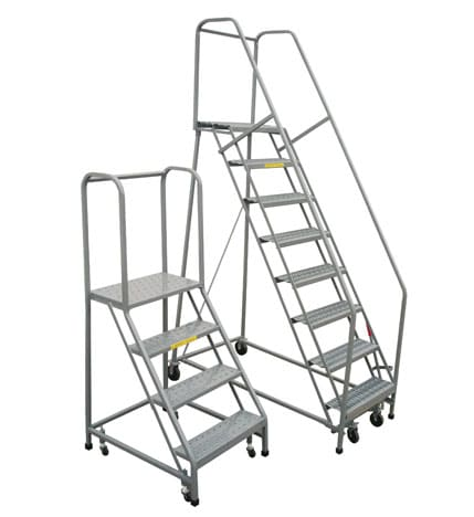 Rolling Safety Ladder Industrial Man Lifts Aircraft