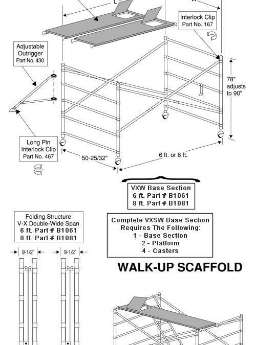 V-X INSTANT DOUBLE-WIDE SPAN Scaffold