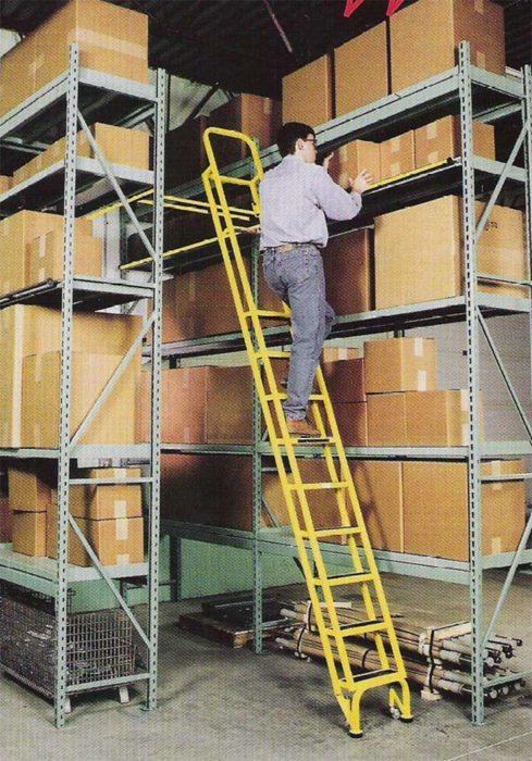 Dual Track Mounted Shelf Ladder