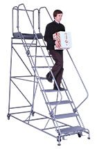 Forward Descent Rolling Steel Ladder