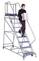 Forward Descent Rolling Steel Ladder