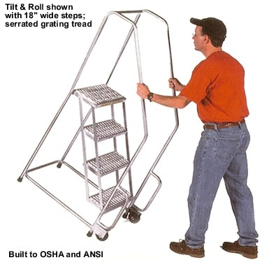 Aluminum Rolling Ladder small