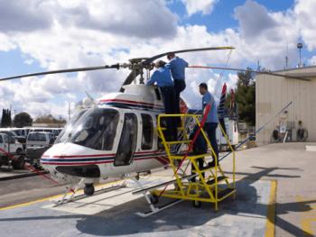 Bell B206L B Helicopter Maintenance Platform