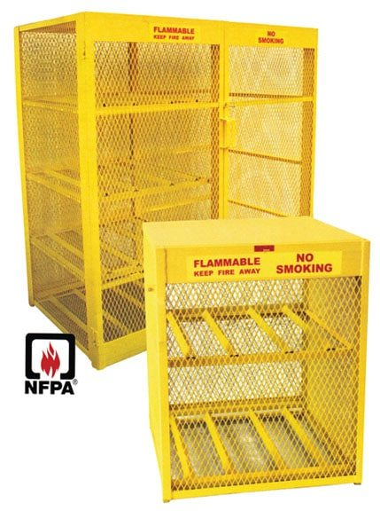 gas cylinder caged cabinet