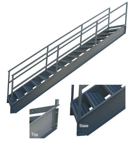 custom industrial stairway ladder