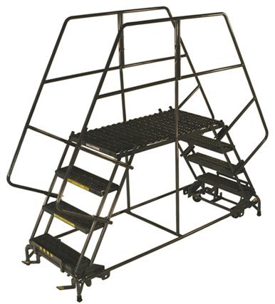 Double Entry Work Platforms Industrial Man Lifts