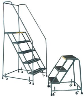 Standard Rolling Ladder Spring Loaded Casters Industrial