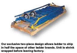 Vestil Steel Rolling Warehouse Ladders shipping