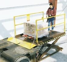 Truck scissor dock lift