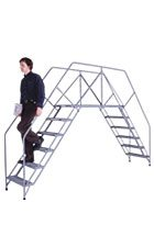Portable Crossover Platform Ladder