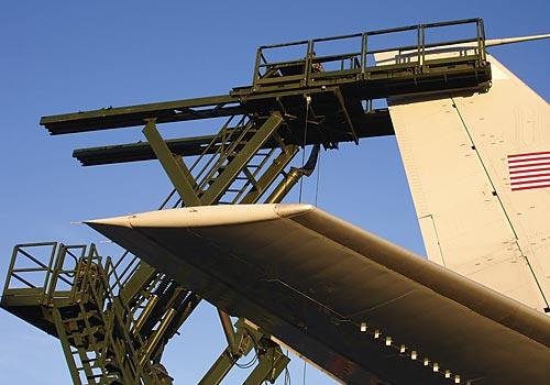 Scissor Lift Industrial Man Lifts Aircraft Maintenance