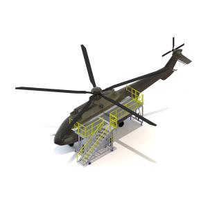 Portable Helicopter Maintenance Deck – Model#: ME-251
