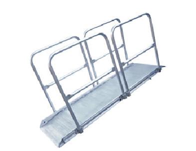 Aluminum Walk ramp Handrail Options|AWR-CART-38|AWR-HR-2A|AWR-HR-3A|AWR-R-CART-28|AWR-WHL