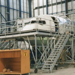 B737 Fuselage Docking System|B737 Fuselage Work Stand|fuselage maintenance platform