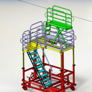 Single Pallet Aircraft Engine Maintenance Stand