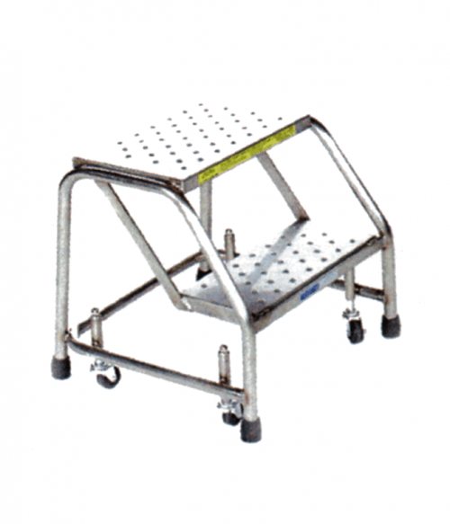Stainless Steel Spring Loaded Caster Ladders