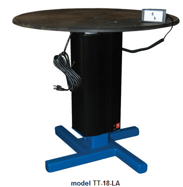 Turntables with Powered Height Adjustment