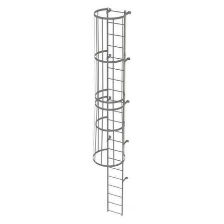 20Ft Steel Fixed Ladder with Safety Cage – WLFC1121