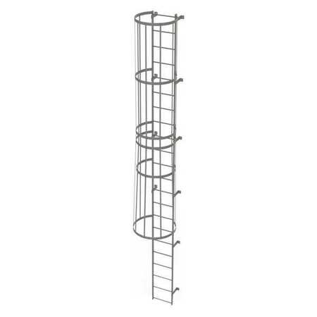21Ft Steel Fixed Ladder with Safety Cage – WLFC1122