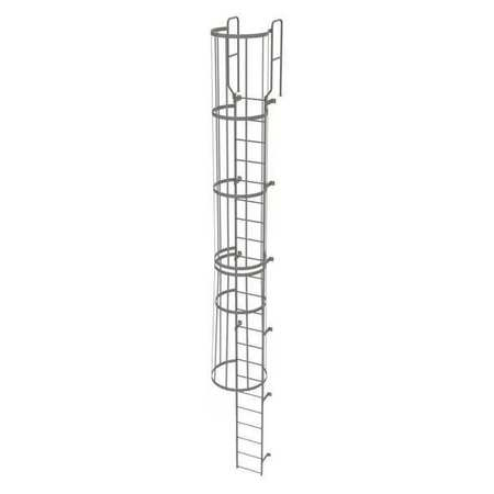 21Ft Steel Fixed Ladder with Safety Cage – WLFC1222