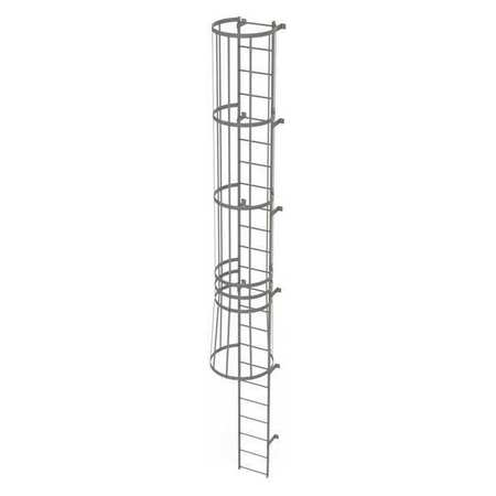 22Ft Steel Fixed Ladder with Safety Cage – WLFC1123