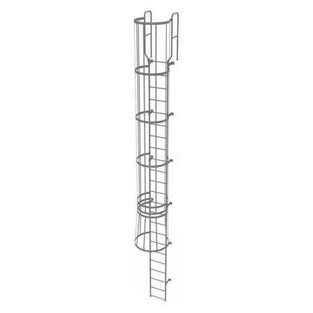 22Ft Steel Fixed Ladder with Safety Cage – WLFC1223