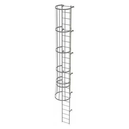 23Ft Steel Fixed Ladder with Safety Cage – WLFC1124