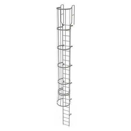 23Ft Steel Fixed Ladder with Safety Cage – WLFC1224
