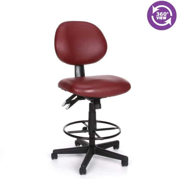24 Hour Anti-Microbial Vinyl Computer Task Chair with Drafting kit