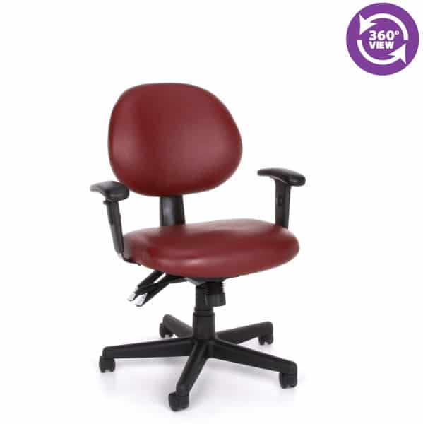 24 Hour Anti-MicrobialAnti-Bacterial Vinyl Task Chair with Arms