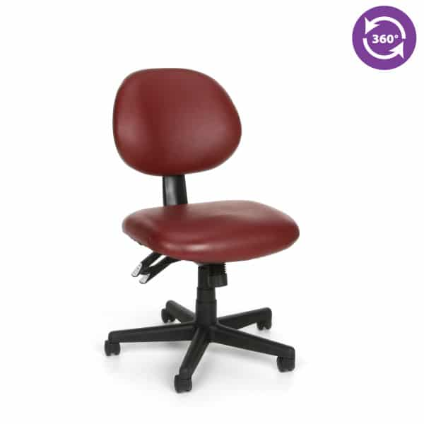 24 Hour Anti-MicrobialAnti-Bacterial Vinyl Task Chair