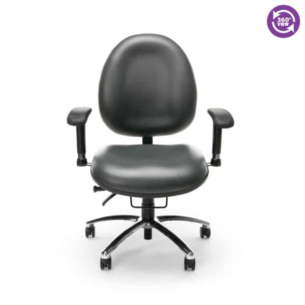 24-Hour Big & Tall Anti-MicrobialAnti-Bacterial Vinyl Computer Task Chair