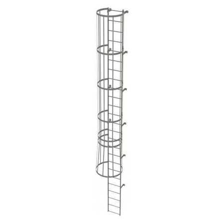 24Ft Steel Fixed Ladder with Safety Cage – WLFC1125