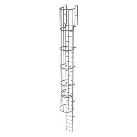 24Ft Steel Fixed Ladder with Safety Cage – WLFC1225