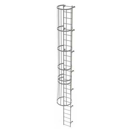 25Ft Steel Fixed Ladder with Safety Cage – WLFC1126