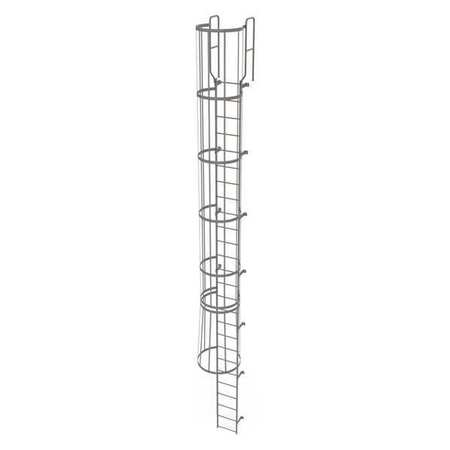 25Ft Steel Fixed Ladder with Safety Cage – WLFC1226