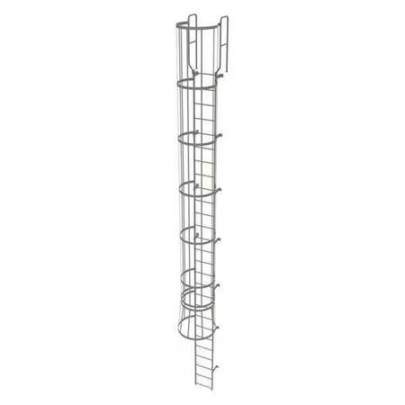 26Ft Steel Fixed Ladder with Safety Cage – WLFC1227