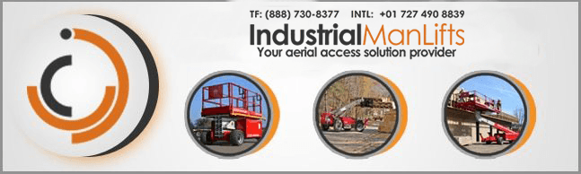 industrial man lifts, aerial work platforms