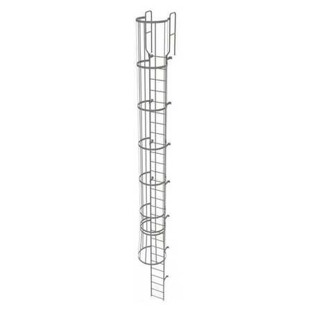 27Ft Steel Fixed Ladder with Safety Cage – WLFC1228