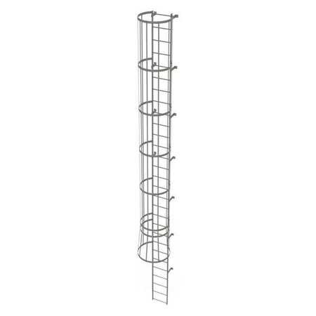 28Ft Steel Fixed Ladder with Safety Cage – WLFC1129