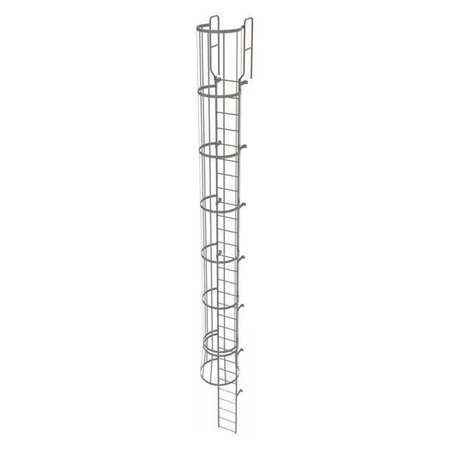 28Ft Steel Fixed Ladder with Safety Cage – WLFC1229