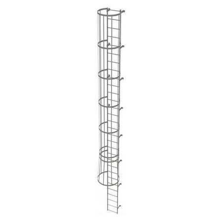 29Ft Steel Fixed Ladder with Safety Cage – WLFC1130